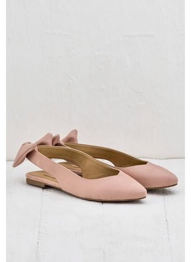 Elle Süet Ayakkabı Pudra
